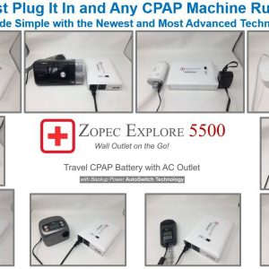 Zopec EXPLORE 5500 Universal Portable CPAP Backup Battery