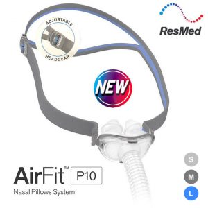 NEW AirFit™ P10 Nasal Pillow Mask With Adjustable Headgear